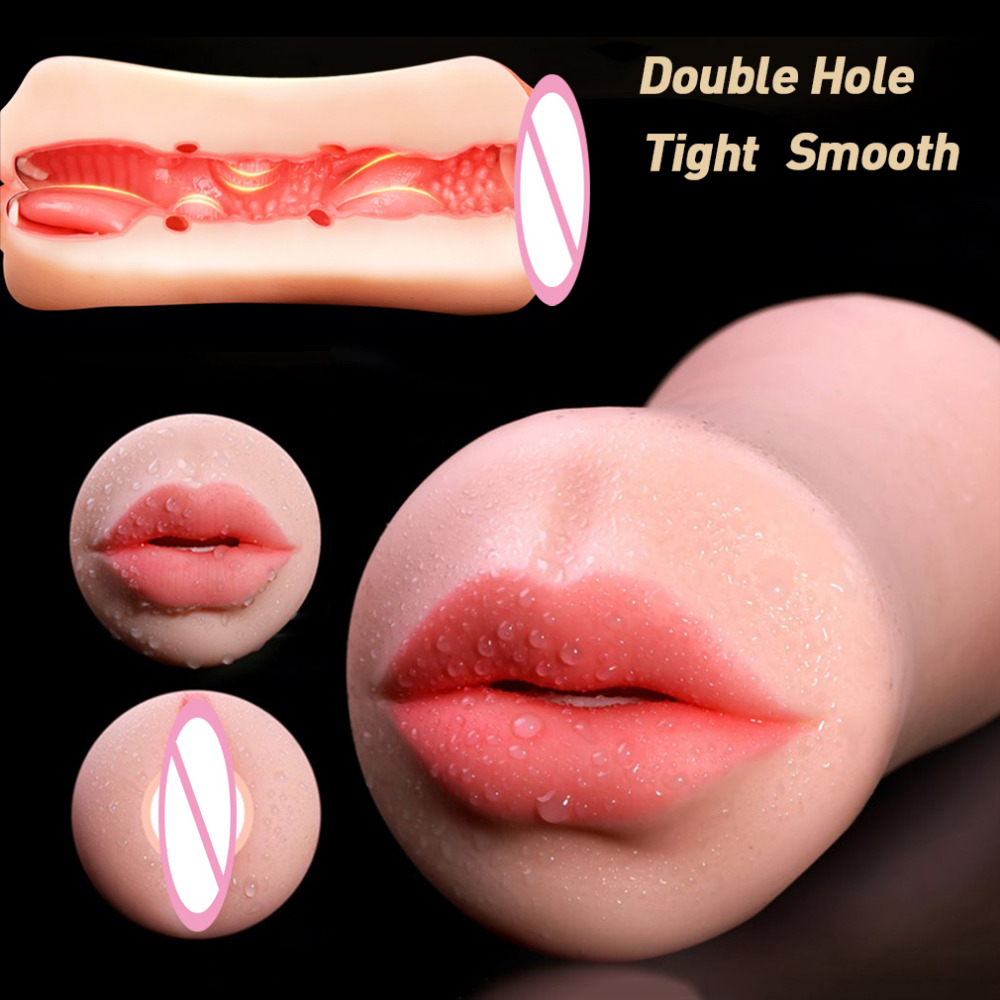 Realistic Vagina Male Masturbator TPE Real Tight Pussy Strong Suction Vaginal Anal Sex Masturbation Cup Sex Toys for Men ...