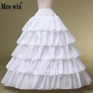 Image 1 - Robe de mariée haute qualité jupon blanc sacoches réglables spéciales 4 jante 5 grandes couches élastiques de bord de feuille de Lotus