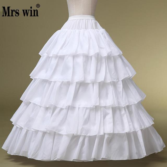 Robe de mariée haute qualité jupon blanc sacoches réglables spéciales 4 jante 5 grandes couches élastiques de bord de feuille de Lotus
