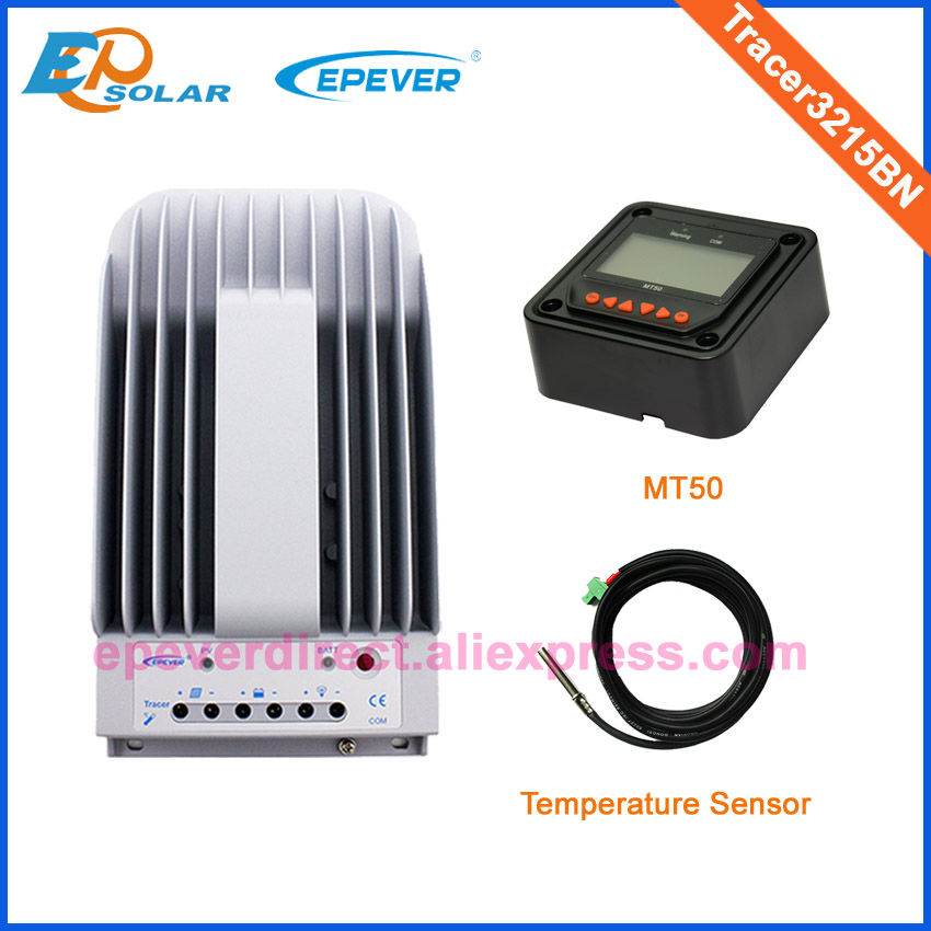 Solar Power Bank Charger Controller Tracer3215BN MPPT series temp sensor and MT50 Meter EPEVER Brand 30A 30amps 12V/24V auto Solar Power Bank Charger Controller Tracer3215BN MPPT series temp sensor and MT50 Meter EPEVER Brand 30A 30amps 12V/24V auto