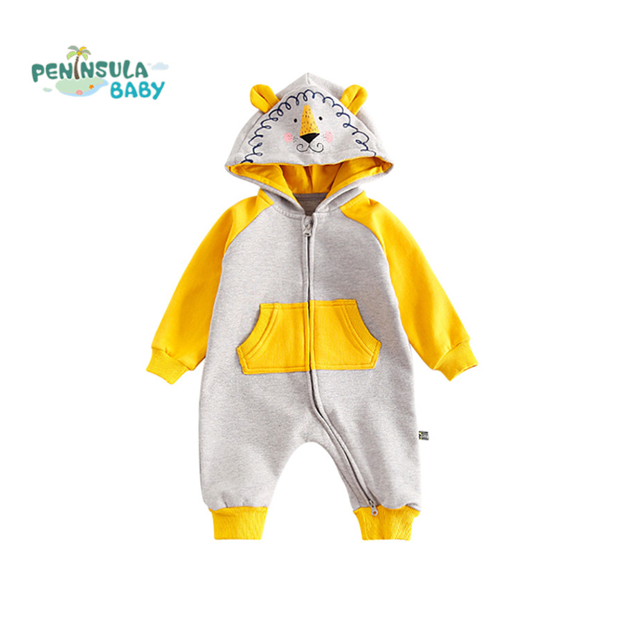 Baby Rompers Winter Infant Toddler Clothes Newborn Boys Girls Warm Hooded Jumpsuits Christmas Cartoon Animal Children Outerwear 0 9months autumn winter baby girls boys rompers cartoon cute thick warm hooded jumpsuits newborn clothes infant clothing bc1225