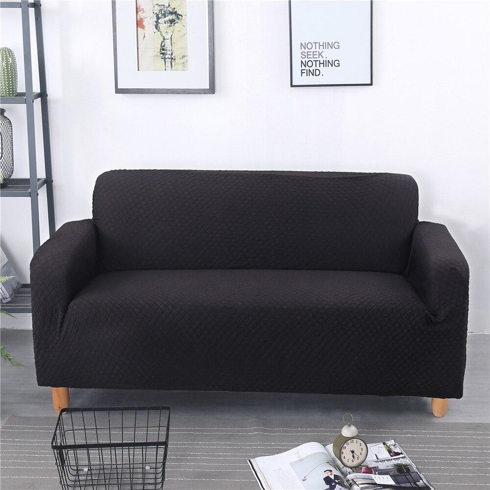 Kaufen Billig Einfarbig Jacquard Sofa Abdeckung Vier Sitzer