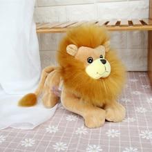 1 шт. набитый Лев высокого качества милый Лев 25 см плюшевые игрушки мягкие животные кукла Развивающие игрушки для детей