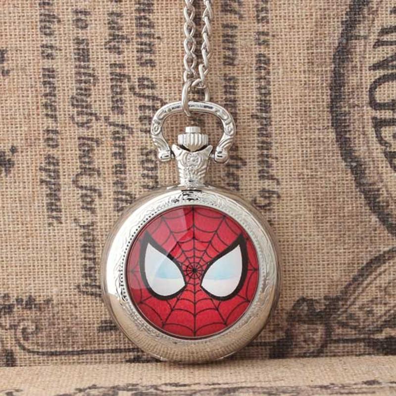 Classic personality pocket watch necklace super popular movie spider man hand spiderman creative gift quartz pocket watch