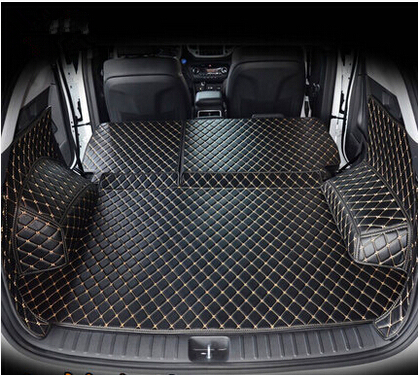 High quality Full set car trunk mats for Hyundai Tucson 2017 waterproof boot carpets cargo liner mat for Tucson 2016    1