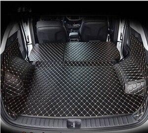 Image 2 - Hyundai Tucson 2017 방수 부츠 카펫 용 고품질 풀 트렁크 매트 Tucson 2016 용 카고 라이너 매트