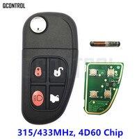 QCONTROL Remote Key For Jaguar X Type S Type XJ XK S X Type 315MHz Or