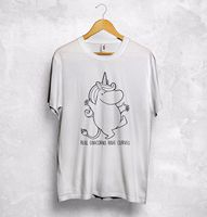Moomin Real Unicorns Have Curves T Shirt Top So Sweet Love Gift Japanese Style Summer Men'S fashion Tee,Comfortable t shirt