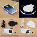 Cargador inalámbrico qi para iphone 6 s plus 6 s sí 5S 5c 5 caso de la cubierta del receptor inalámbrico de carga banco de potencia pad para iphone 6 6 s Plus
