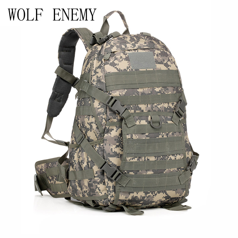 Sac à dos militaire tactique Molle Camouflage sac à bandoulière Camp voyage sacs en plein air