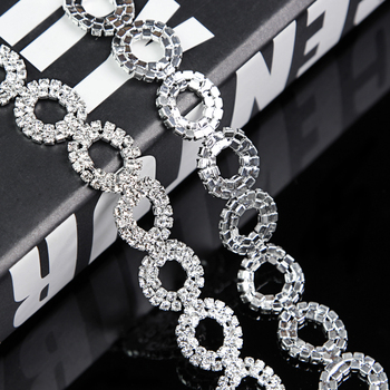 10Yards Rhinestone Chain Trim Diamante Crystal Silver Cake Decorations Toppers