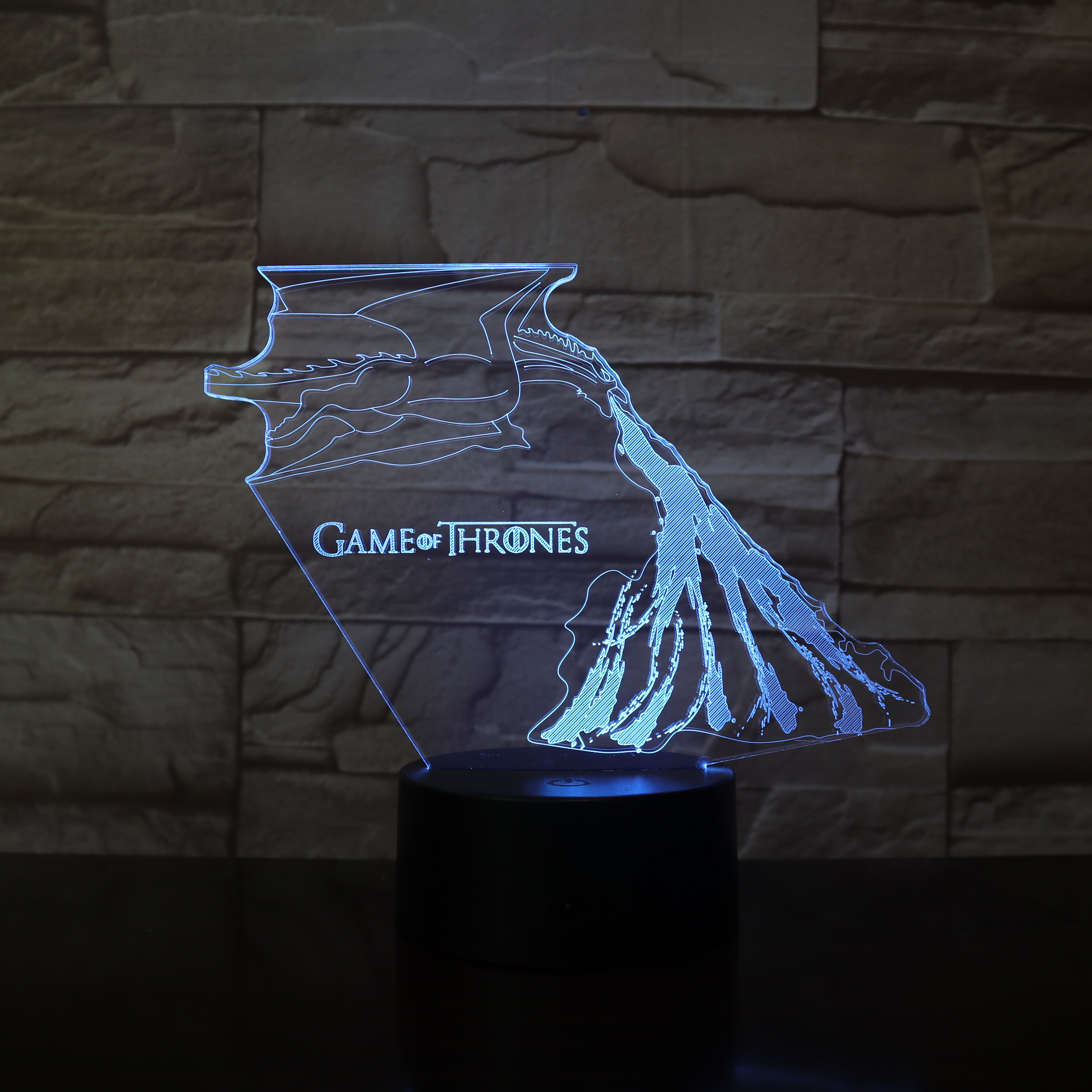 Game Of Thrones Led Night Light For Adult Mother 3d LED Lamp Child Nightlight 7 Colors Change Home Decor Independence Day Gift