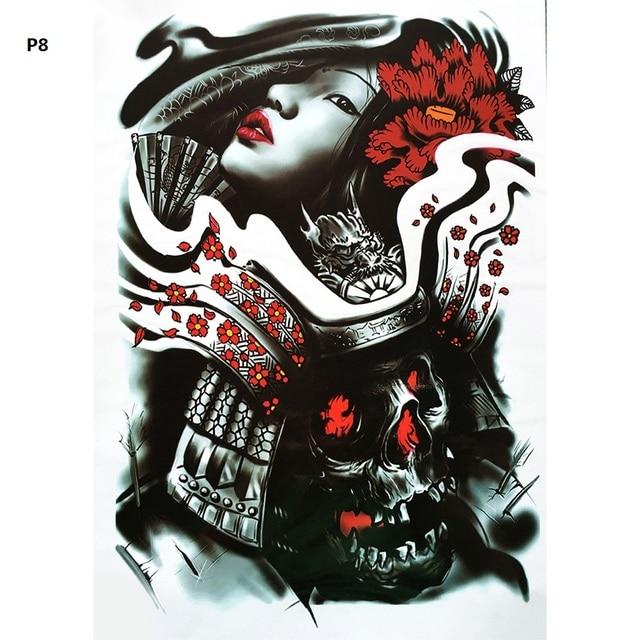 2pcs large dragon design men full back tattoo stickers for Custom tattoo stickers