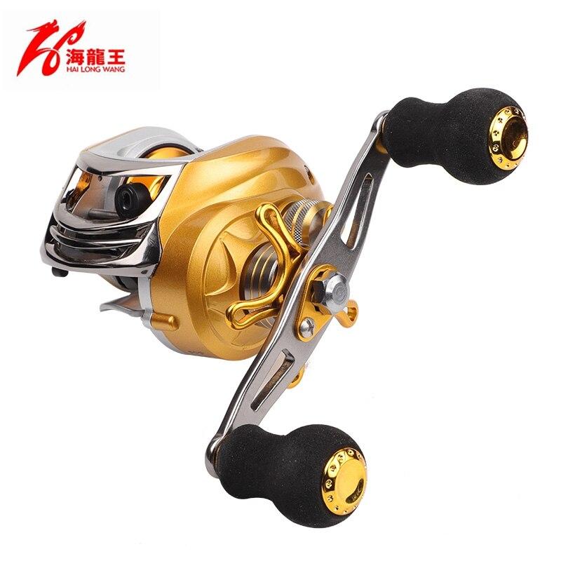 Gold Magnetic Brake 19 Bearing Brand Saltwater Fishing Baitcasting Reel Left Hand Right Handle Bait Casting Reel Fishing Reel
