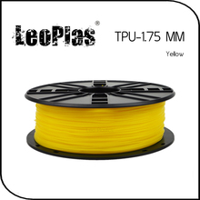 Worldwide Fast Delivery Manufacturer 3D Printer Material 1kg 2.2lb Soft 1.75mm Flexible Yellow TPU Filament