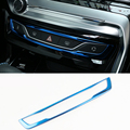 Car Accessories Stainless steel Central control decoration cover For Peugeot 308 T9 Hatchback SW GTI 2015 2016 2017