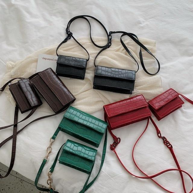 Mini Stone Pattern Crossbody Bags For Women 2020 Pu Leather Purses and Handbags New Designer Ladies Shoulder Messenger Bag 3
