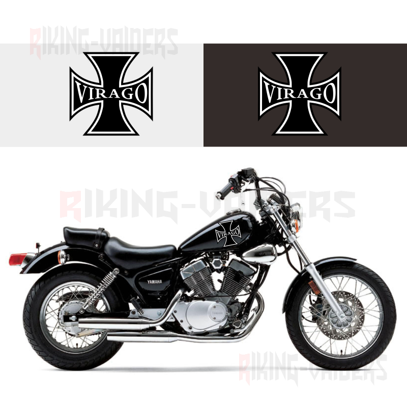 Custom Cross Decals Fuel Tank Stickers Fender Sticker For <font><b>Yamaha</b></font> <font><b>Virago</b></font> XV250 <font><b>XV400</b></font> XV535 image