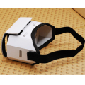 Cardboard 3D VR Box Headset VR Glasses Virtual Reality Mobile Phone 3D Movies for Smartphones up to 5.5 inch Screen Size White