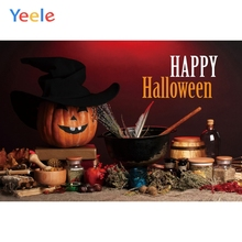 Yeele Halloween Wallpaper Kitchen Pumpkin Room Decor Photography Backdrop Personalized Photographic Backgrounds For Photo Studio