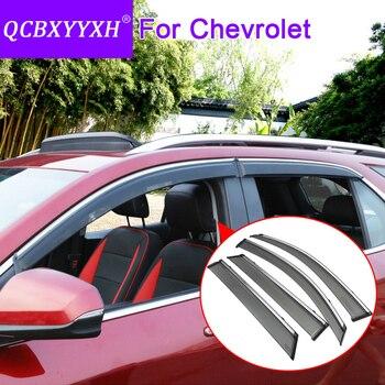 Car Styling 4pcs/lot Window Visors For Chevrolet Captiva Cruze Aveo Sail Epica Malibu Equinox Sun Rain Shield Stickers Covers