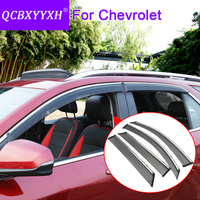 Car Styling 4pcs/lot Window Visors For Chevrolet Captiva Cruze Aveo Sail Epica Malibu Equinox Sun Rain Shield Stickers Covers