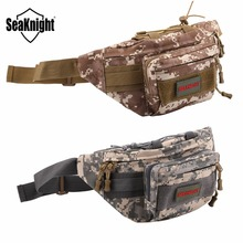 SeaKnight SK001 Fishing Bag 24*20*9cm Multifunction Canvas Waist Bag Tactical Outdoor Sport Hiking Camping Fishing Equipments