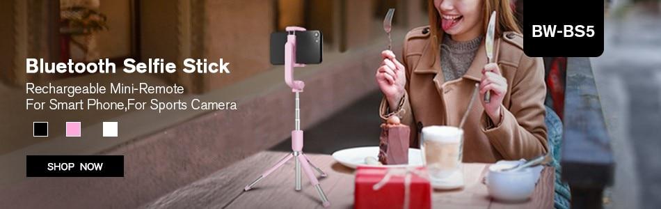 BlitzWolf Camera Tripod Bluetooth Wire Selfie Stickess Monopod Remote Controller