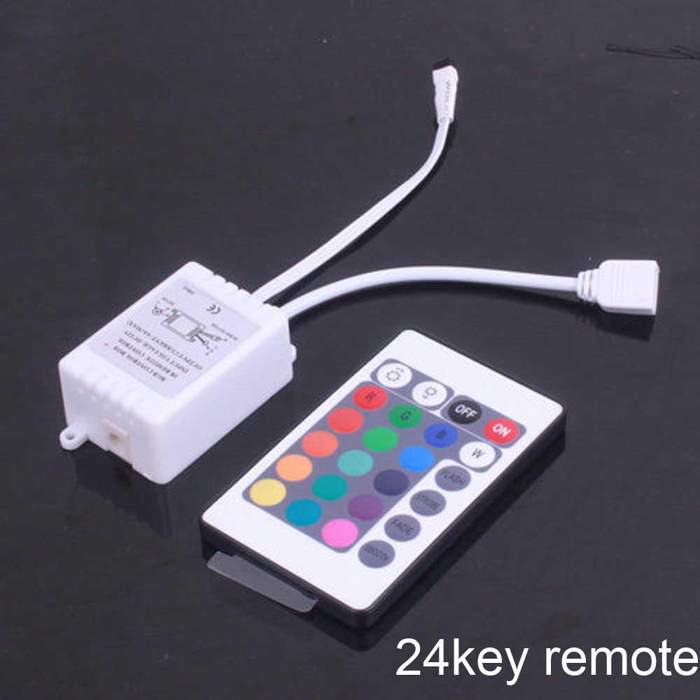 DC12-24V Mini 3/24/44-клавишным ИК Удаленный беспроводной контроллер Диммер динамический режим инфракрасный сенсорный экран для 5050 3528 3014 цветных (RGB) светодиодных лент светильник