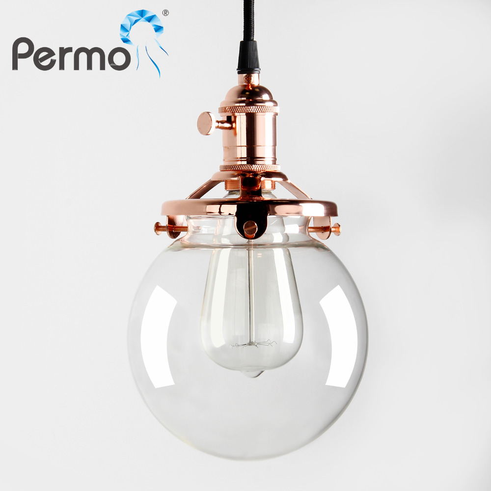 Permo 5.9 Clear Glass Pendant Lights Kitchen Restaurant Pendant Ceiling Lamps Modern Vintage Hanglamp Luminaire Lights FixturePermo 5.9 Clear Glass Pendant Lights Kitchen Restaurant Pendant Ceiling Lamps Modern Vintage Hanglamp Luminaire Lights Fixture