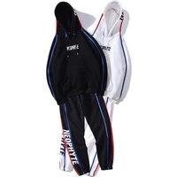 Повседневный Зимний спортивный костюм, комплект для мужчин, толстовки из хлопка в стиле хип хоп, свободный уличная Мужская толстовка, спорт