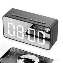 Bluetooth часы динамиков радио будильник светодиодный зеркальный