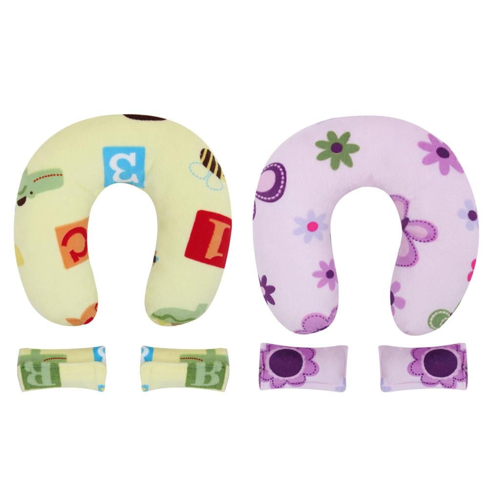 Pillow U Shape Headrest Cartoon Design Kids Baby Anti Roll Pillow Massager Neck Pillow Travel Toys For Kids