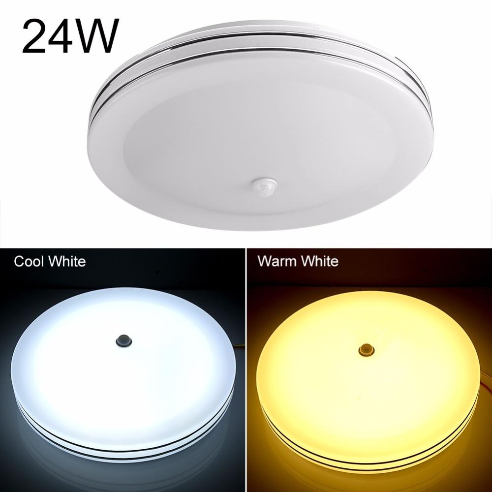 Indoor Motion Sensor Ceiling Light: Aliexpress.com : Buy 24W Round LED Ceiling Lights Lamps