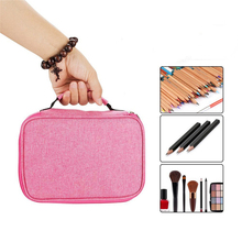 72 Holder Pen Colored Pencil Case School Multi-functional High Capacity Zipper Pencil Bag For Student Art Supplies school 120 slots pencil case large capacity travel portable colored pencil holder pen zipper bag pouch for artist students stationary