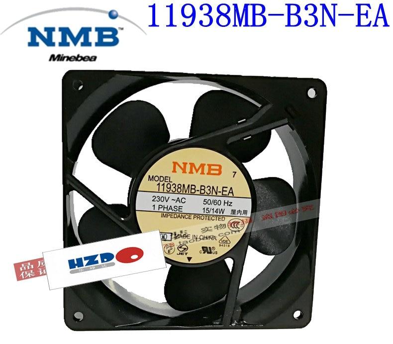 NMB 11938MB-B3N-EA AC 230 V 15/14 w ventilateur de refroidissement 12038