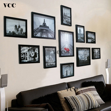 11 Pcs Classic Wood Photo Frame For Wall Hanging Home Decor 7 10 Inch Wedding Couple Recommendation Black White Pictures Frames