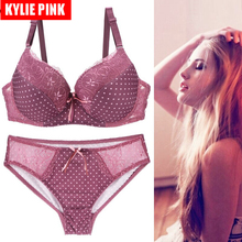 KYLIE PINK New Women Bras Panties Sets Ladies Bra and Panty Underwear Set Sexy Lingerie Push Up Plus Size Thin Cup