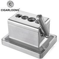 Cigar Cutter Krupp Stainless Steel 4 Hole Cigar Cutter V Cylinder Scissors Luxury Cigar Scissors Guillotine Cigar Cutter CC 622