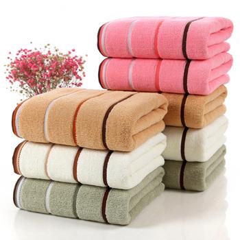 Bawełniany ręcznik kąpielowy duże grube ręczniki zestaw strona główna łazienka Hotel dorośli dzieci Badhanddoek Toalha de banho Serviette de bain tanie i dobre opinie Zestaw ręczników Dobby Tkane rectangle 105g 390g bath-030 Sprężone Quick-dry Można prać w pralce 5 s-10 s Paski 100 bawełna