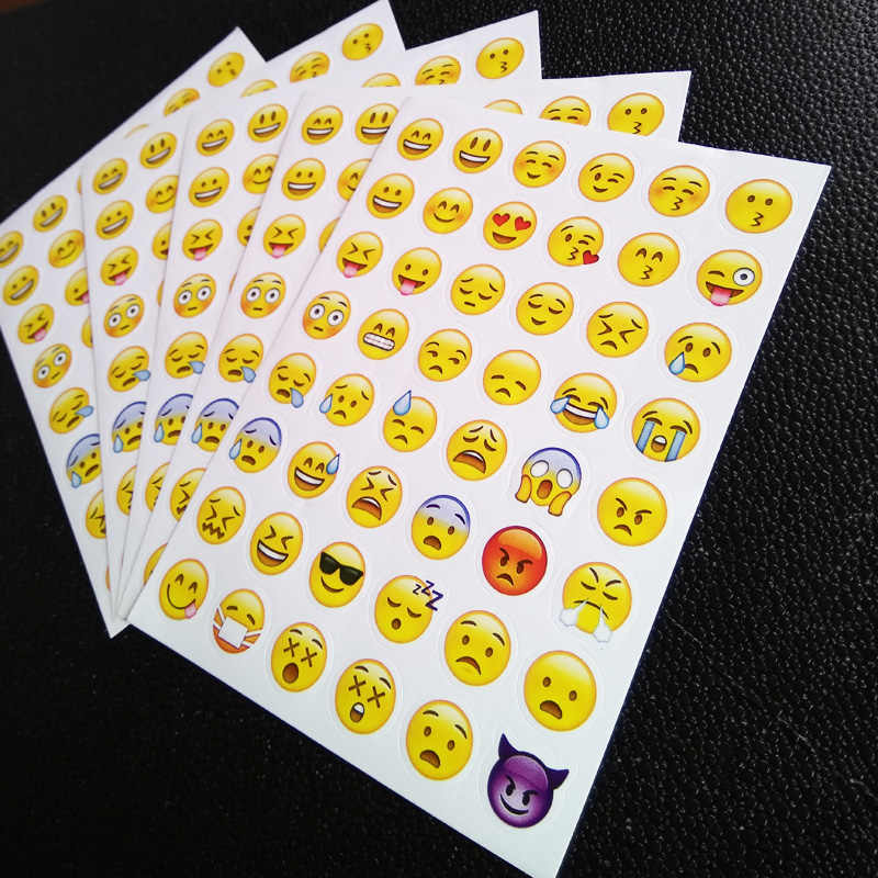 1 sheet 3D sticker 48 Emoji stickers Smile face stickers for notebook, message Twitter Large Viny Instagram Smiling toys