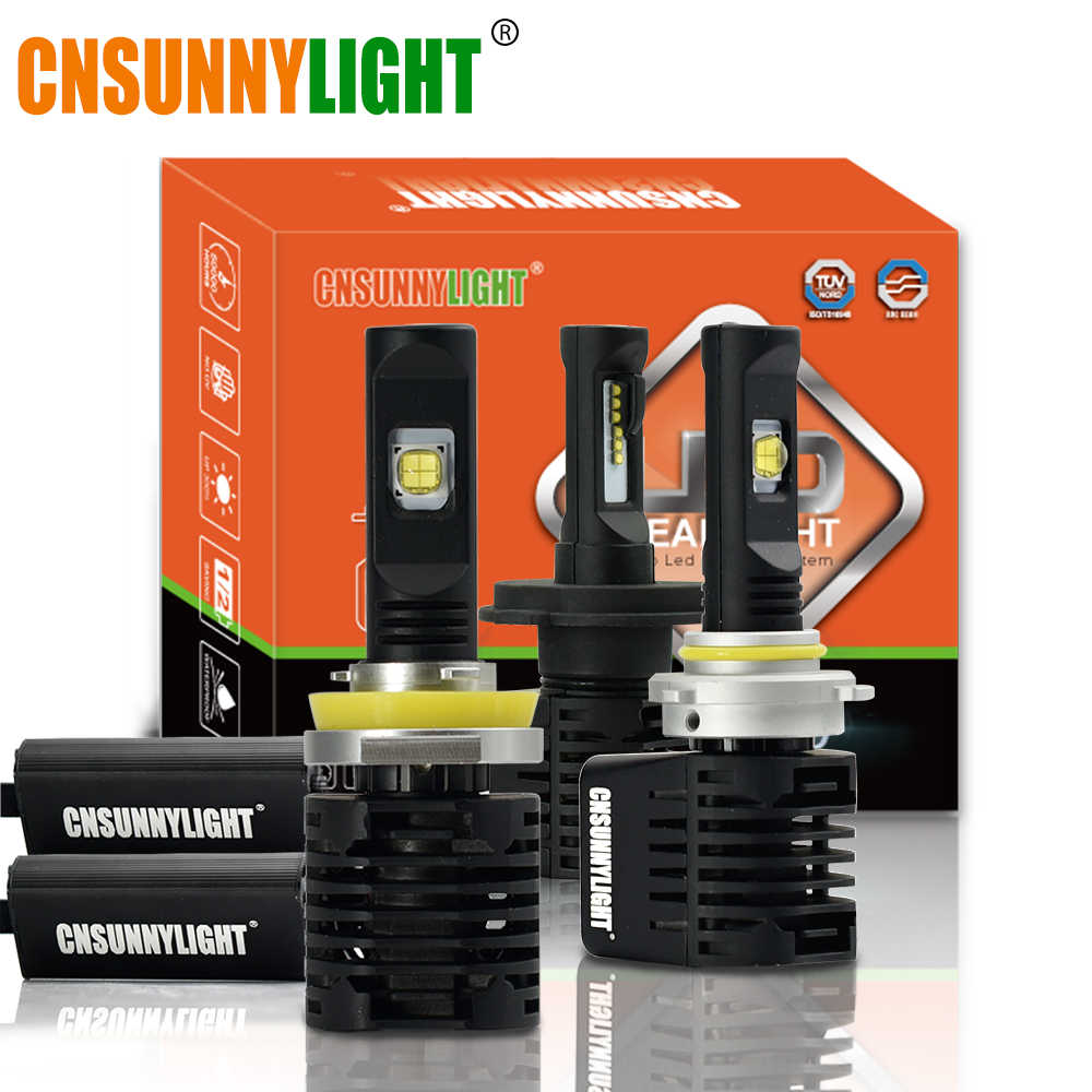 CNSUNNYLIGHT P8S Canbus LED Car Headlight bulbs H7 H11 9005 9006 H4 D1 w/LUMILEDS MX70 Chips 14000Lm 5700K No Error Auto lamps