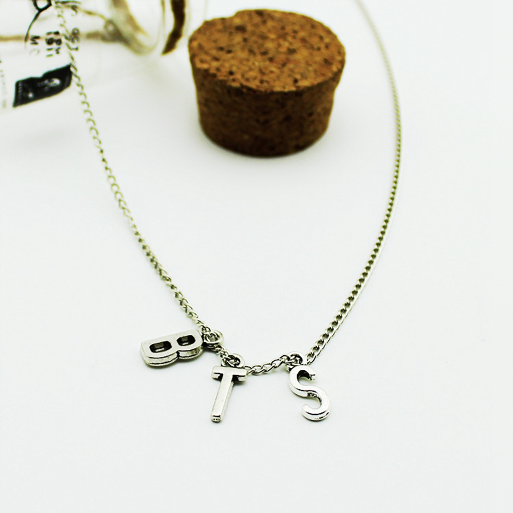 Lmikni kpop bts album bangtan boys necklace korean fashion for Decor jewelry