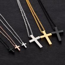 croix acier en inoxydable-argent,