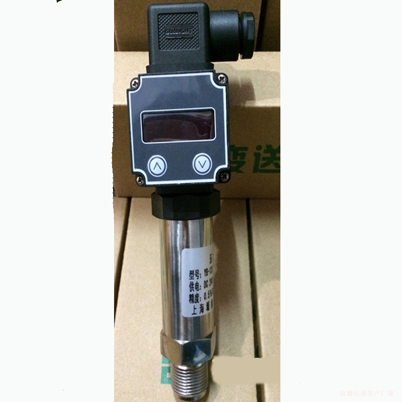 LED digital display pressure transmitter proliferation of silicon sensor 4-20mA signal output test rang -0.1 10kpa 16k10M 60M 40 0 0 16 60mpa intelligent led display silicon pressure transmitter pressure transducer g1 4 4 20ma output