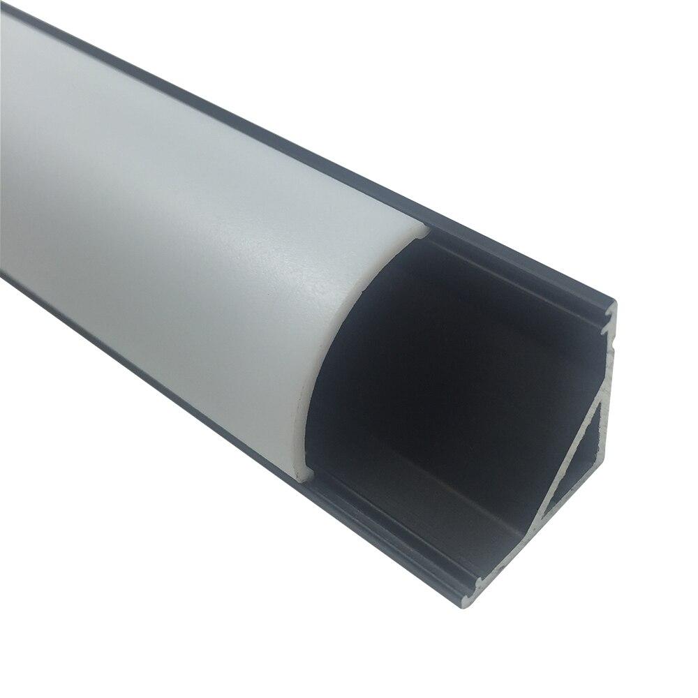 10M / lot 10X1M (3,3ft) қара V-пішінді қисық - LED Жарықтандыру - фото 4