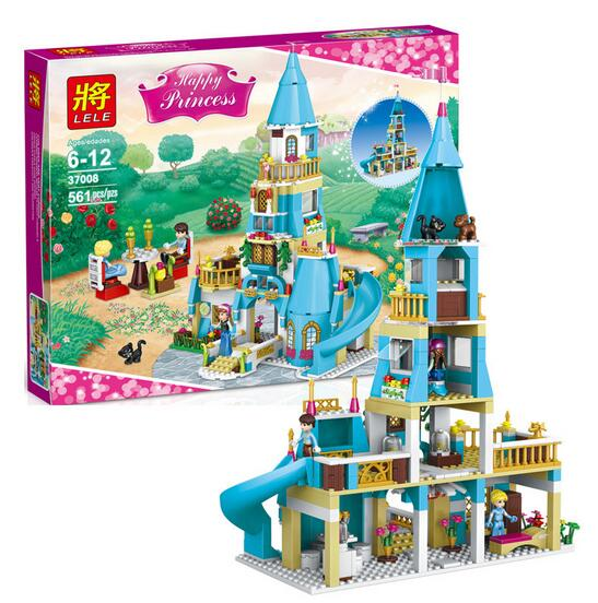 ФОТО 37008 Girl Friends  Princess Anna and the Prince Castle Model Building Kits Blocks Bricks Girl Toys For Children Lepin
