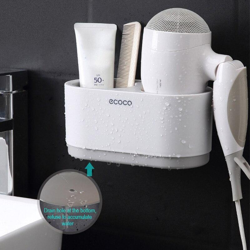 Bathroom Shelf Hair Dryer Holder Set Wall Shelf Bathroom Accessories Shelves Storage Holder For Hair Dryer Do Not Drilling