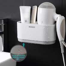 Bathroom Shelf Hair Dryer Holder Set Wall Accessories Shelves Storage For Do Not Drilling
