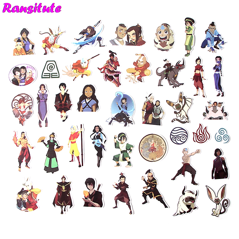 41Pcs/set Avatar: The Last Airbender Anime Cartoon Sticker DIY Luggage Laptop Skateboard Motorcycle Bike Sticker R424